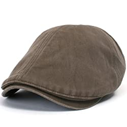 ililily New Men's Cotton washing Flat Cap Cabbie Hat Gatsby Ivy Caps Irish Hunting Hats Newsboy with Stretch fit - 003-4