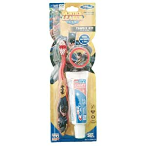 Marvel Justice League DC Avengers Spiderman Batman Hulk Toothbrush 3 Pack (Batman with Crest 3 pack)