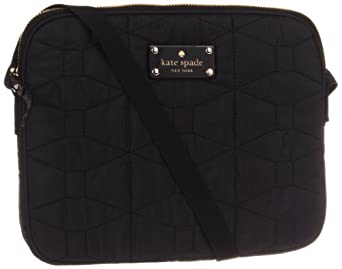 Kate Spade New York Signature Spade Quilted-Bryce  Cross Body,Black,One Size
