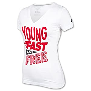 Nike Women's Young Fast Free V-Neck (Small)
