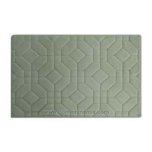 Dusty Mint Green Memory Foam Bathroom Mat Rug Day Spa Tiles Des