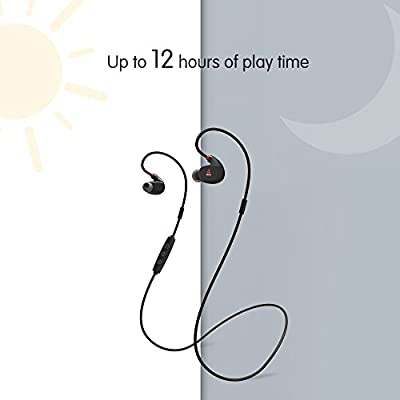 Wireless Headphone, Axgio Spirit Sport Bluetooth Earbuds 12-Hour Playing Time Earphone Sound Isolating Waterproof Headsets In-Ear with Mic Running Exercising Gym for iPhone 6S 5S 4S Samsung S7 etc