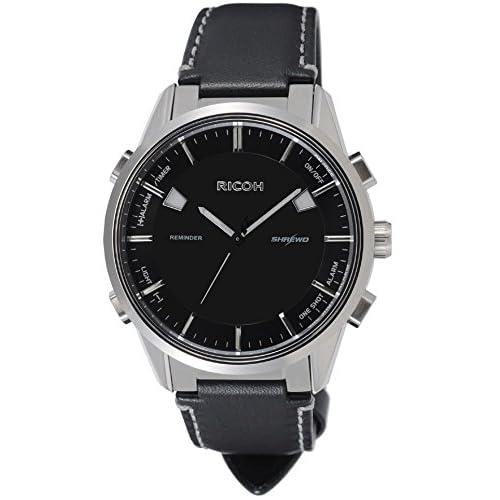 [リコー]RICOH 腕時計 シュルードリマインダー アナログ表示 10気圧防水 電磁誘導充電式 バイブレーションアラーム ブラック 660007-06 メンズ