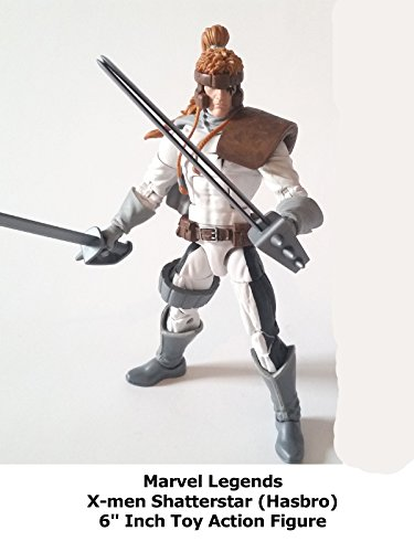 "Review: Marvel Legends X-men Shatterstar (Hasbro) 6"" Inch Toy Action Figure"