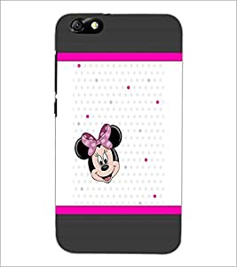 PrintDhaba Minnie Mouse D-1364 Back Case Cover for HUAWEI HONOR 4X (Multi-Coloured)