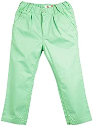 Oye Girls Pleated Pant - Pista Green (3-4Y)