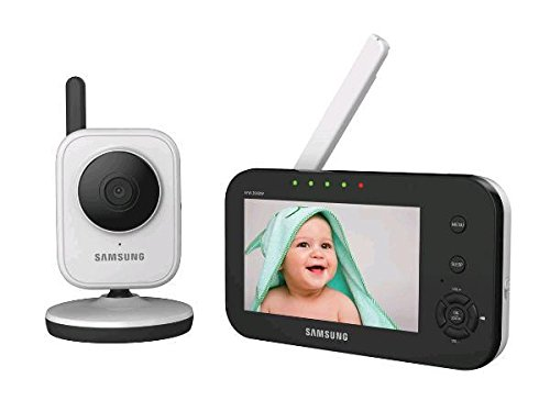 "Samsung SEW-3040W SimpleVIEW Baby Monitoring System IR NIght Vision Zoom, 4.3"" - 1"
