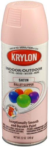 Krylon 53526 Ballet Slipper 'Satin Touch' Decorator Spray Paint - 12 oz. Aerosol