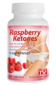 Raspberry Ketones, 100% Pure!, 500mg Servings 60 Capsules 250mg Per Pill, Weight Loss, Appetite Suppressant, As Seen on Tv! by Nutrifrenzy