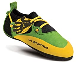 La Sportiva Stickit Shoe - Kid\'s Green / Yellow 34 / 35