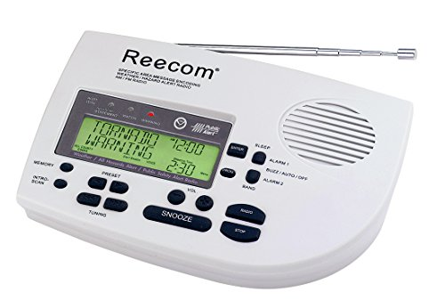 Unique 185 Hours Back-up Battery Life Time (Standby), Reecom R-1650 SAME Weather Alert Radio with AM/FM (Light Grey), Display Event Message and Effective Time At a Glance, EOM Detection, 25 Event Memories (Disable Auto R compare prices)