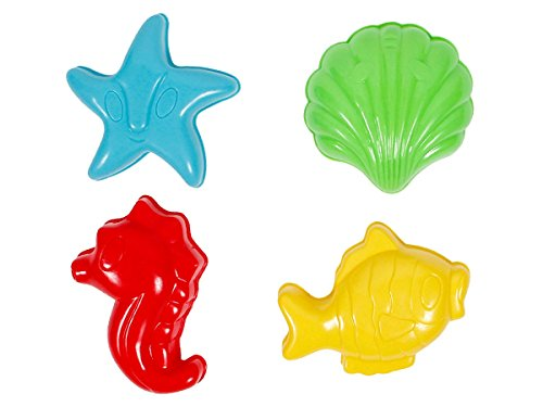 Forme per animali e castelli di sabbia torte giocattolo colori bambini spiaggia mare acqua, Sand Förmchen MG-45-48:MG-46 Animali del mare
