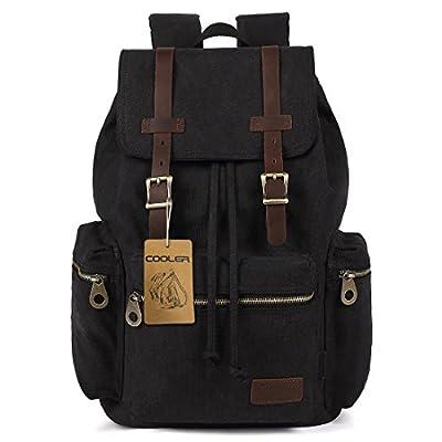 COOLER® Vintage Canvas Sacs à dos loisir multifonctions sac de randonnée camping voyage sacs à dos scolaire