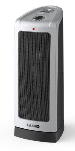 Lasko 5307 Oscillating Ceramic Rear Heater, 16-Inch