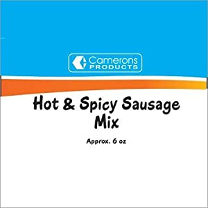 Hot Spicy Sausage Mix 75 Oz Gross 62 Oz Net by Camerons
