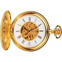 Royal London 90005-02 Mens Mechanical Pocket Watch with Chain