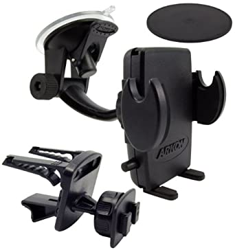 Arkon Smartphone Car Mount Holder for Apple iPhone 6 Plus iPhone 6 5C Samsung Galaxy Note 4 3 Galaxy S6 S5 S4 HTC One M8