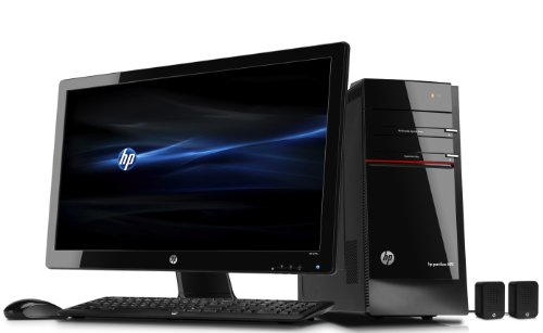 HP Black Pavilion Elite Desktop Computer PC Bundle