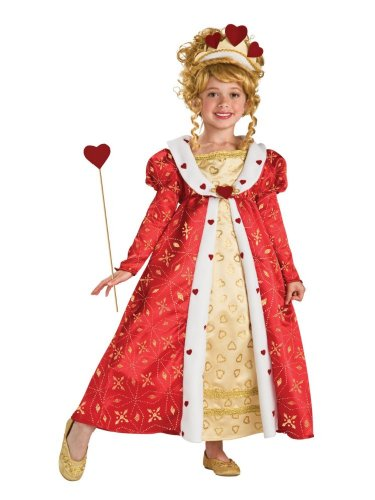 Rubie's Costume Co Girls Heart Costume Queen Of Hearts