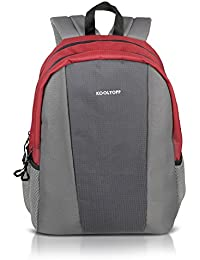 """Kooltopp Fabipro 15 Inch Laptop Backpack Bag, Casual Laptop Backpack - Red & Grey (For 15.6"""" HP Laptops, 15.6""""..."""