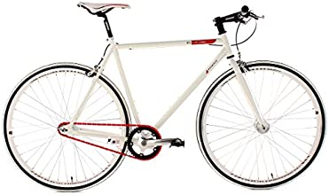 "KS Cycling Essence Vélo Fixie 28"" Blanc 59 cm"