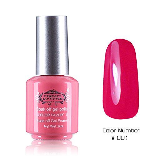 Perfect Summer 8ml Vernis à Ongles Gel UV Soak Off Nail Art Semi Permanent Manucure -Magenta #1