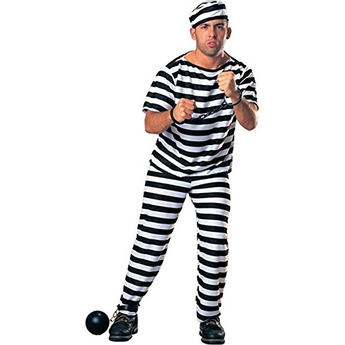 Prisoner Man Adult Costume - Standard