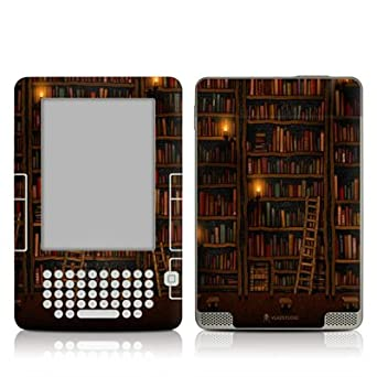 Library Design Protective Decal Skin Sticker for Amazon Kindle 2 E-Book Reader (2nd Gen)