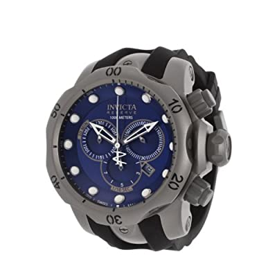 Invicta Men's 14168 Venom Analog Swiss-Quartz Black Watch