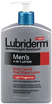 Amazon - Lubriderm Men's 3-in-1 Lotion 16 fl oz (473 ml) - $4.31