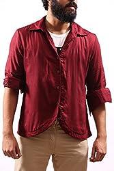 Fadjuice Men's Shirt (Fj43859M_Burgundy Maroon_Medium)