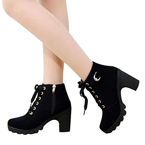 favoridol-ladies-chunky-block-heel-zipper-lace-up-ankle-boots-shoes-casual-39-eu-6-uk-black