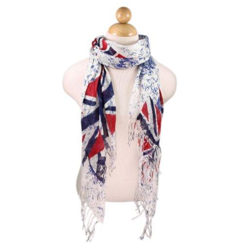 TrendsBlue UK British Flag Union Jack Peace Scarf (British Flag Union Jack compare prices)