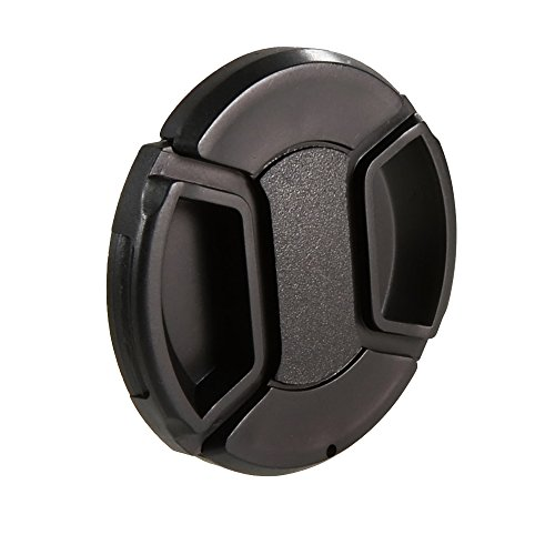 CamDesign 55MM Snap-On Front Lens Cap/Cover for Canon, Nikon, Sony, Pentax all DSLR lenses + CamDesign Wristband Lens Focus Ring (Dslr Lense Cap compare prices)