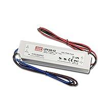 LPV-60-12 Sealed Panel Mount LPV Series AC-DC 12-volt 5-Amp Power Supply with LED Driver