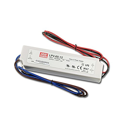 LPV-60-12 Sealed Panel Mount LPV Series AC-DC 12-volt 5-Amp Power Supply with LED Driver (12v Led Power Supply compare prices)