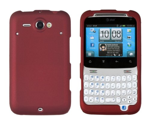 Red Matte 2-Piece Rubberized Snap Case for HTC Status (for AT&T)