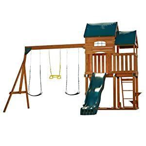 Swing-N-Slide Lindley Wood Complete Play Set