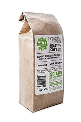 Tiny Footprint Coffee Organic Cold Press Elixir - Cold Brew Coffee, Ground, 16 Ounce from Tiny Footprint Coffee