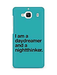 AMEZ daydreamer and night thinker Back Cover For Xiaomi Redmi 2