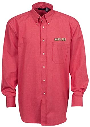 Oxford NCAA Maryland Terrapins Mens Mini-Check Button Down by Oxford