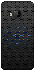 Snoogg Honeycomb Designer Protective Back Case Cover For HTC M9