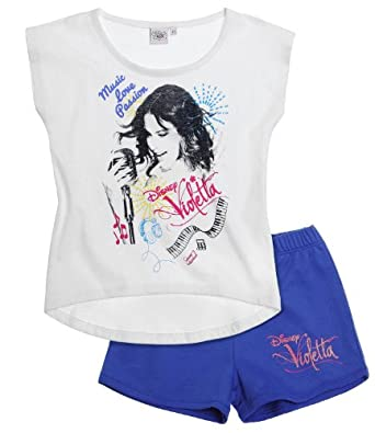 Disney Violetta Ensemble Tee-shirt+short bleu (8 ans)