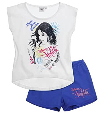 Disney Violetta Ensemble Tee-shirt+short bleu (10 ans)