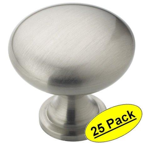 Amerock BP53005-G10 Allison Satin Nickel Round Cabinet Knob 25 Pack