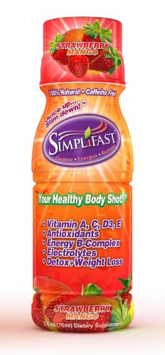Simplifast Detox & Weight Loss Shot; Strawberry Mango, 2.5-Ounce (Pack of 6)