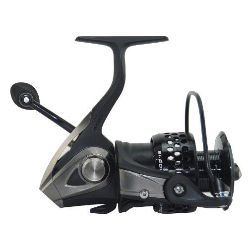 Ecooda black hawk spinning reel metal body freshwater for Open reel fishing