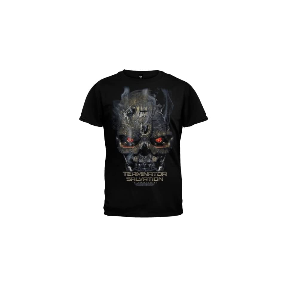 Terminator Salvation   Mens Skull T shirt Medium Black