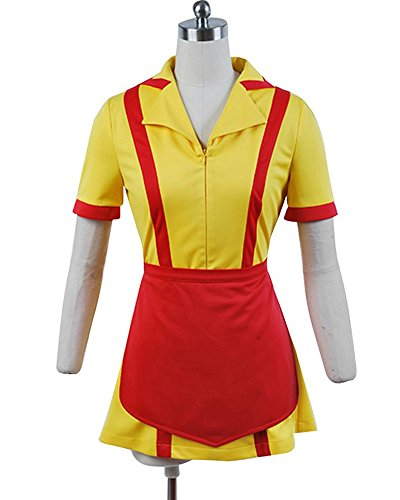 Ya-cos 2 Broke Girls Dress Max&Caroline Cosplay Costume Suit Waitress Uniform