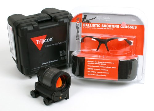 Trijicon Srs - Srs01 (1.75 Moa Red Dot) W/ Free Shooting Glasses (Interchangeable Lens)